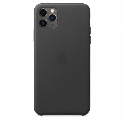 iPhone 11 Pro Max Leather Case - Black (MX0E2) 000011919