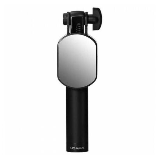 USAMS US-ZB030 3.5mm Port Selfie Stick With Mini Mirror Black 000009738