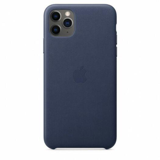 Чехол для iPhone 11 Pro Max Leather Case - Midnight Blue (MX0G2) 000016100