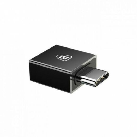 Переходник Baseus Exquisite Type-C Male to USB Female Adapter Converter Black  000010566