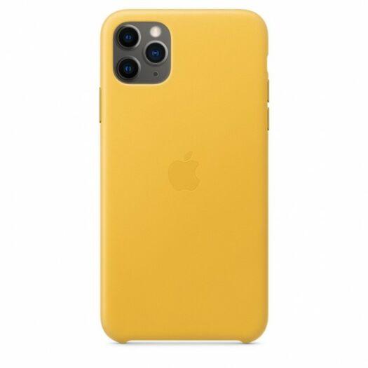 iPhone 11 Pro Leather Case - Meyer Lemon (MWYA2) 000013512