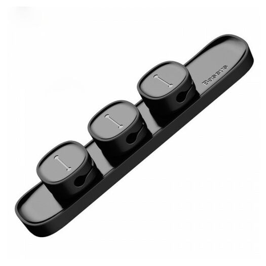 Baseus Peas Cable Clip Black cable holder ACWDJ-01