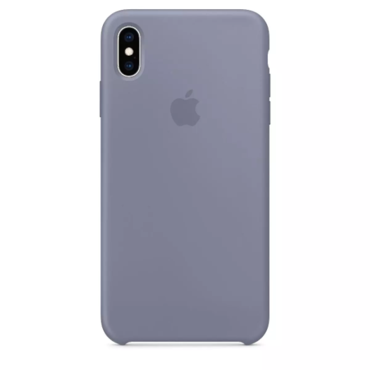 Cover iPhone Xs Max Lavander Gray Silicone Case (High Copy) iPhone Xs Max Lavander Gray Silicone Case High Copy