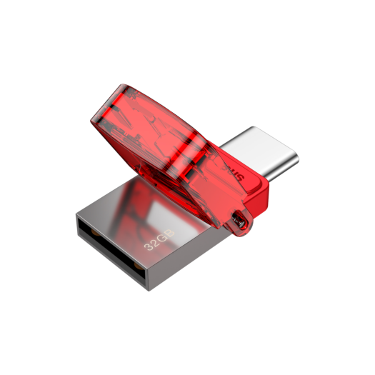 Baseus Red-hat Type-C USB Flash Disk Tarnish body + red cover 000011073