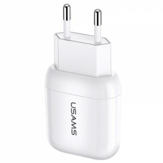 USAMS T19 Single USB Travel Charger (EU) White 000014853