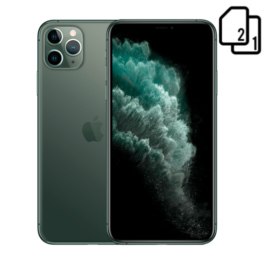 Apple iPhone 11 Pro Max 256GB Dual Sim Midnight Green (MWF42) MWF42-HK
