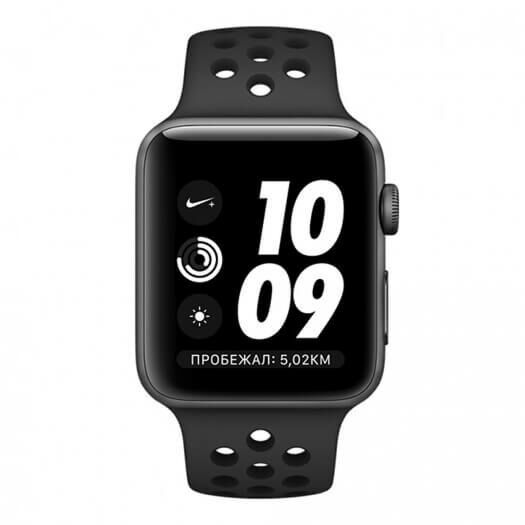 Apple Watch Nike+ Series 3 42mm Space Grey Aluminium Case with Anthracite Black Nike Sport Band (MTF42) MTF42