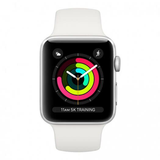Apple Watch Series 3 38mm Silver Aluminium Case with White Sport Band (MTEY2) 000010535