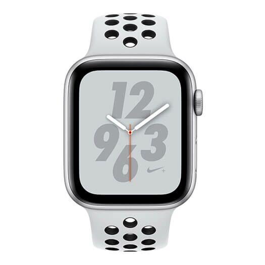 Apple Watch Nike+ Series 4 GPS 44mm Silver Aluminum Case with Pure Platinum/Black Nike Sport Band (MU6K2) MU6K2