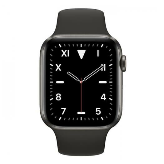 Apple Watch Series 5 GPS+LTE 40mm Space Black Titanium with Black Sport Band (MWQE2) MWQE2