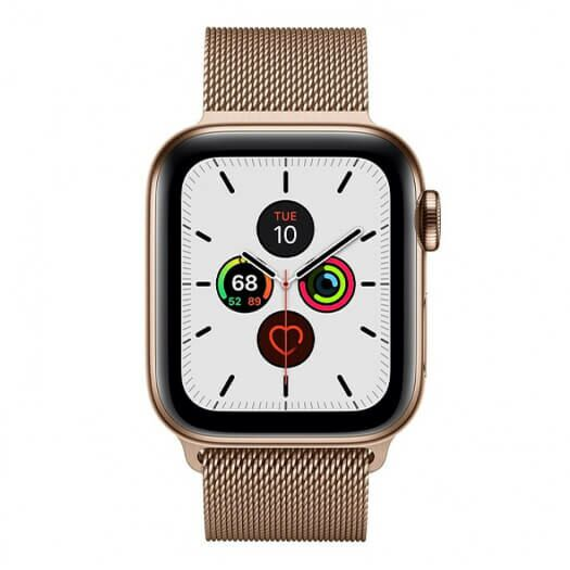 Apple Watch Series 5 GPS + LTE 44mm Gold Stainless Steel Case with Gold Milanese Loop (MWW62/MWWJ2) MWW62/MWWJ2