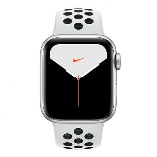 Apple Watch Nike Series 5 GPS 44mm Silver Aluminium Case with Pure Platinum Black Nike Sport Band (MX3V2) MX3V2