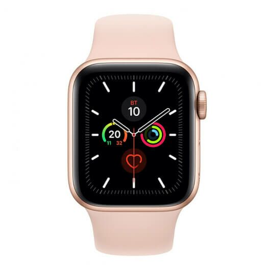 Apple Watch Series 5 44mm Gold Aluminum Case with Pink Sand Sport Band (MWVE2) MWVE2