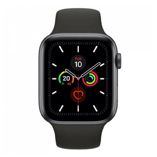 Apple Watch Series 5 GPS + LTE 40mm Space Black Stainless Steel Case with Black Sport Band (MWWW2) MWWW2