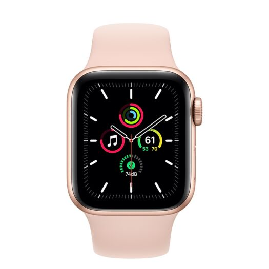 Apple Watch SE 40mm Gold Aluminum Case with Pink Sand Sport Band (MYDN2) 000015997